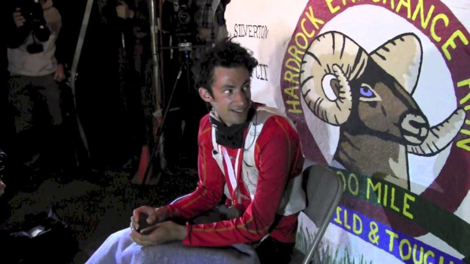 2014 Hardrock 100 Kilian Jornet Finish Line Interview