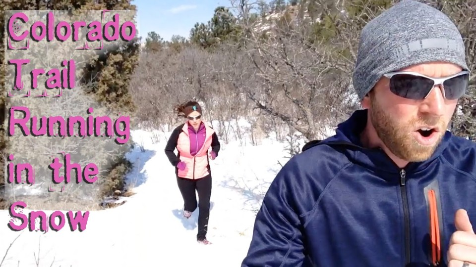 Colorado Trail Running in the Snow with Yaktrax
